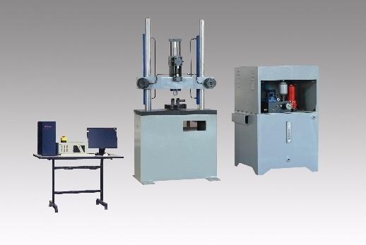 Electro-hydraulic servo mortar fatigue test bed